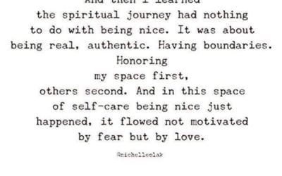 The Spiritual Journey Has Nothing To Do With Being Nice