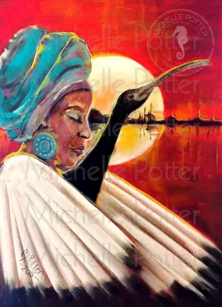 African Queen Ibis wm
