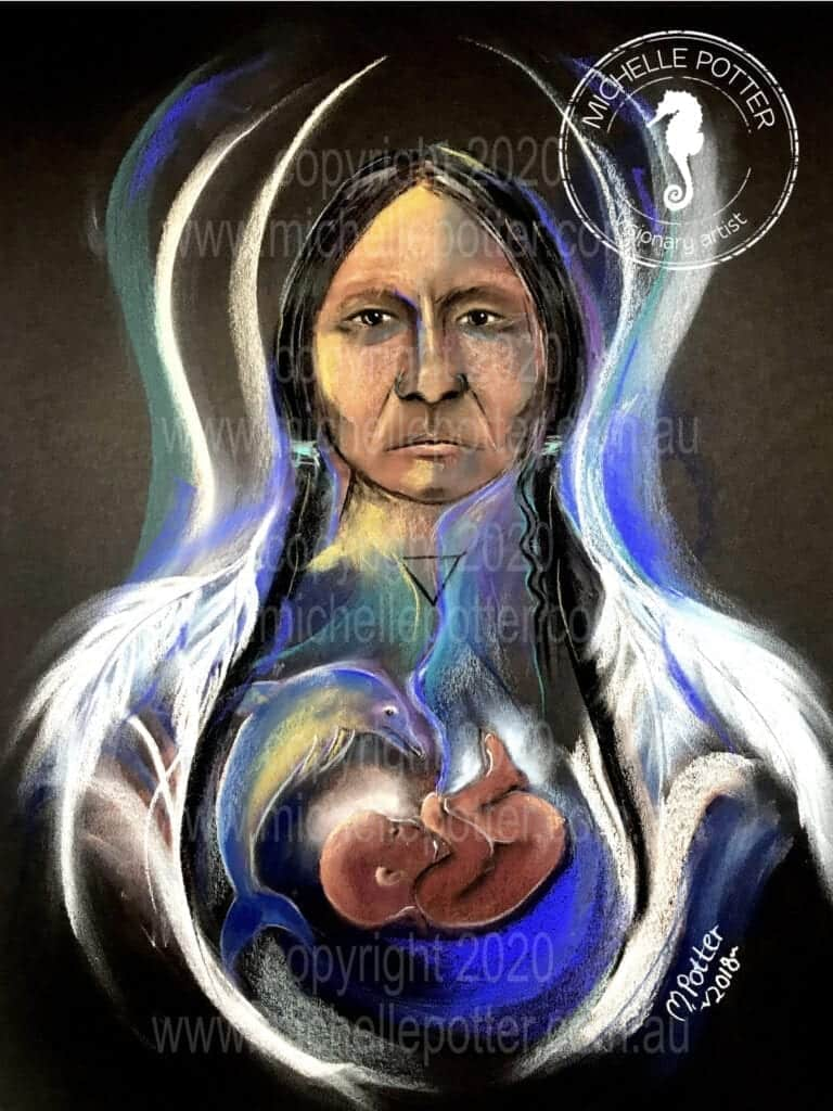 Ancient Indian Water Spirit Michelle Potter Artist