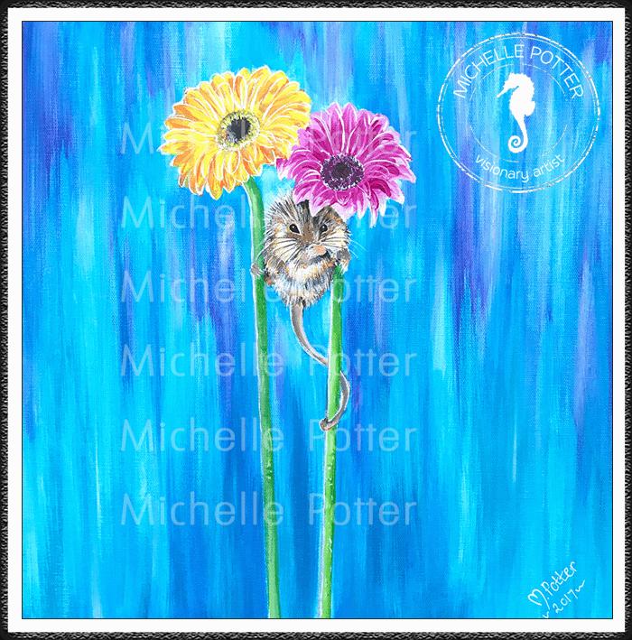 Commissioned_Art_Paints_Michelle_Potter_Fieldmouse_Flowers_Large