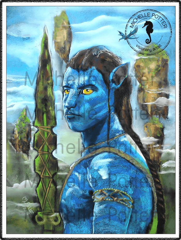Commissioned_Art_Pastels_Michelle_Potter_Avatar_Jake_Sully_Large