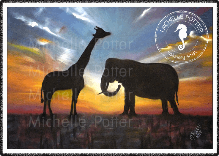 Commissioned_Art_Pastels_Michelle_Potter_Giraffe_Elephant_Large