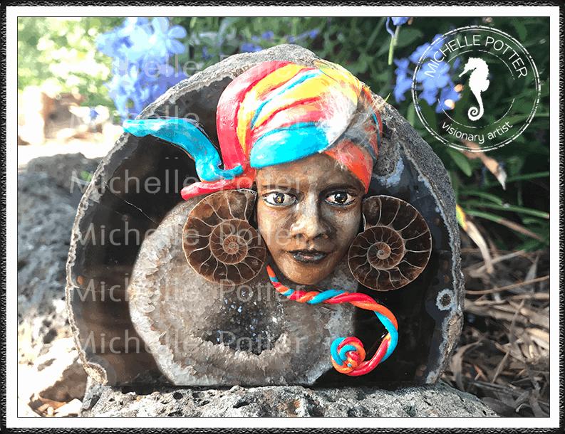 Crystal_Creations_Polymer_Clay_Dariya_Brown_Agate_Geode_Ammolite_Grounding_Good_Luck_Prosperity_Large