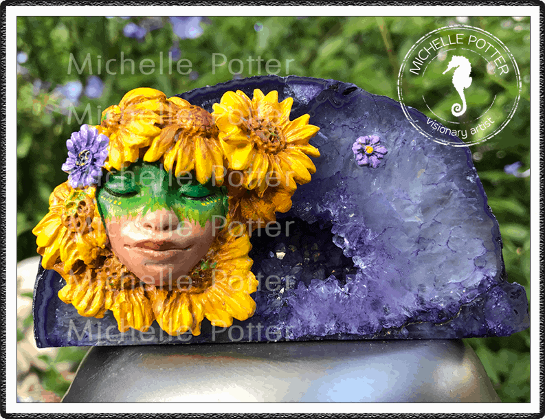 Crystal_Creations_Polymer_Clay_Kira_Purple_Agate_Geode_Sunflowers_Large