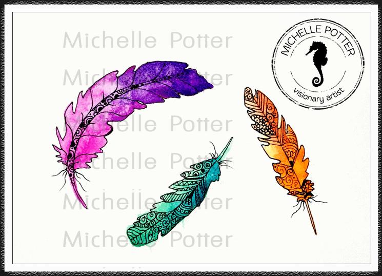 Intuitive_Art_Paints_Michelle_Potter_Feathers_Watercolour_Large