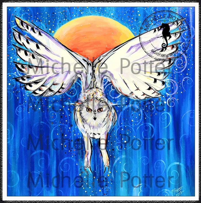 Intuitive_Art_Paints_Michelle_Potter_White_Barn_Owl_Sun_Large