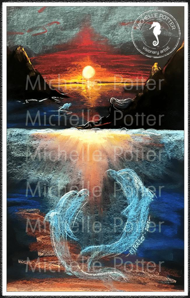 Intuitive_Art_Pastels_Michelle_Potter_Dolphins_Large