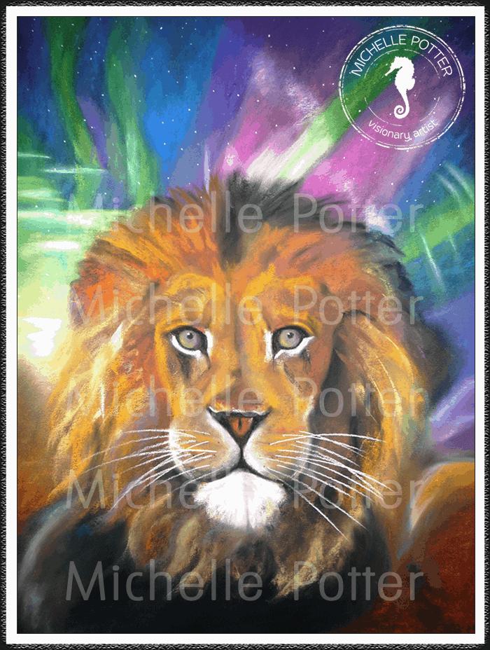 Intuitive_Art_Pastels_Michelle_Potter_Lion_Large