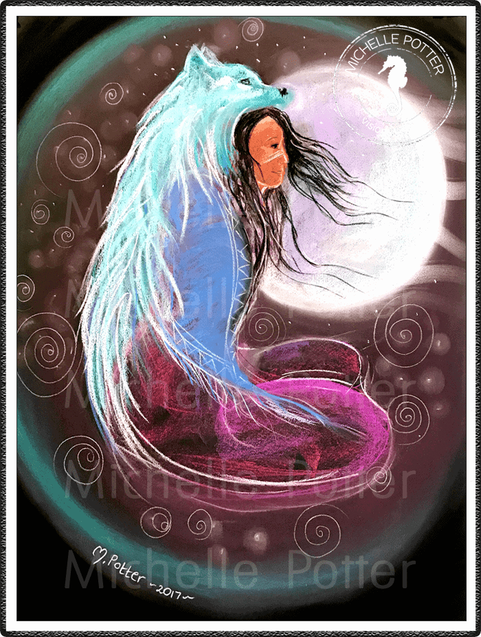 Intuitive_Art_Pastels_Michelle_Potter_Moon_Wolf_Woman_Large