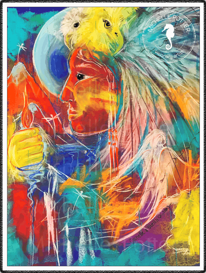 Intuitive_Art_Pastels_Michelle_Potter_Red_Indian_Large