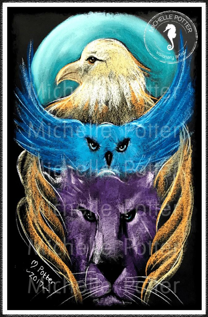 Intuitive_Art_Pastels_Michelle_Potter_Wolf_Owl_Eagle_Moon_Large