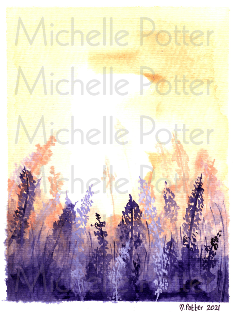 Lavender Watercolour