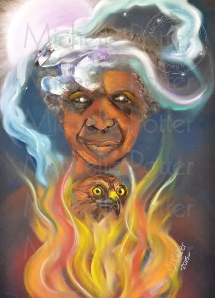 Mumma Kambi Pastel Art Michelle Potter Artist