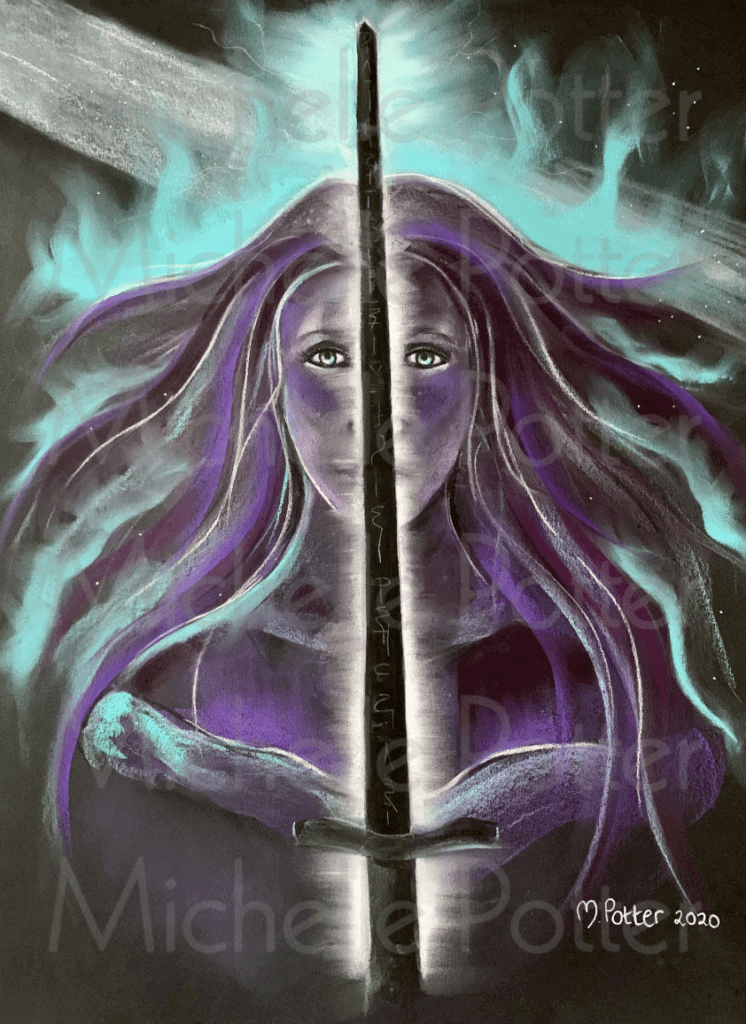Nandra_Avalon_Priestess_Spirit_Art_Guide_Drawing_Michelle_Potter_Artist Watermarked