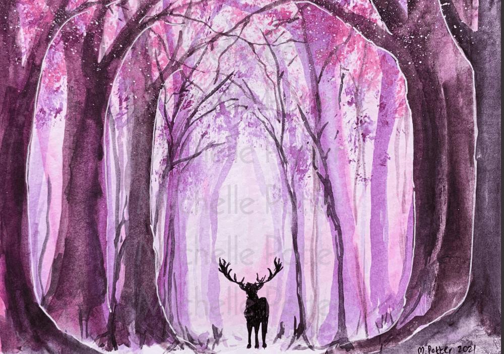 Purple Tree Scape