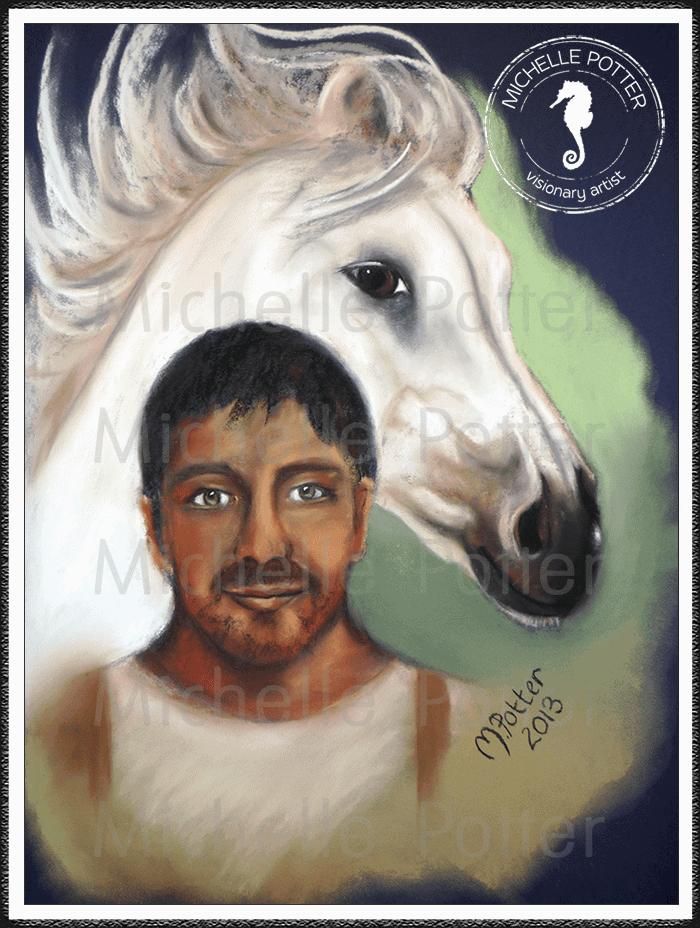 Spirit_Guide_Art_Michelle_Potter_Alvin_White_Horse_Large