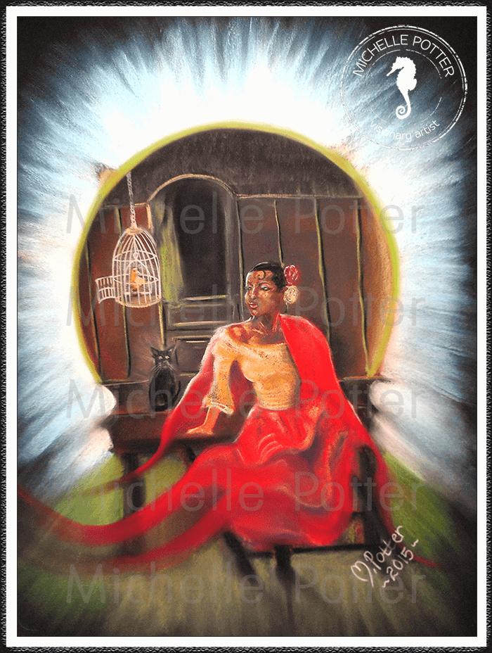 Spirit_Guide_Art_Michelle_Potter_Amarosa_Spanish_Lady_Large