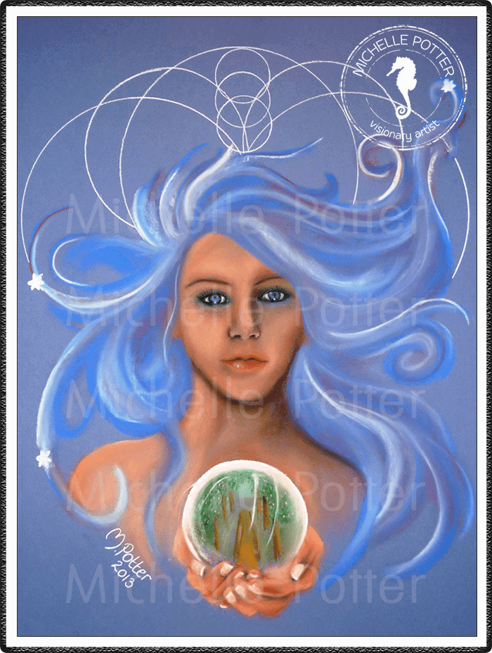 Spirit_Guide_Art_Michelle_Potter_Arianna_Woman_Crystal_Ball_Large