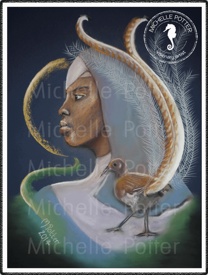 Spirit_Guide_Art_Michelle_Potter_Avery_Lyrebird_Large
