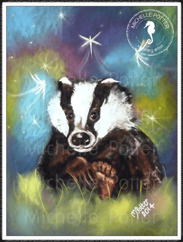 Spirit_Guide_Art_Michelle_Potter_Badger_Large