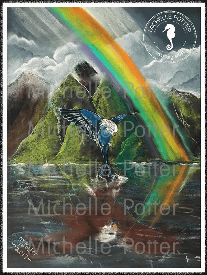 Spirit_Guide_Art_Michelle_Potter_Budgie_Eagle_Hawaii_Rainbow_Large