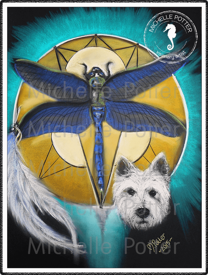 Spirit_Guide_Art_Michelle_Potter_Dog_Dragonfly_Large