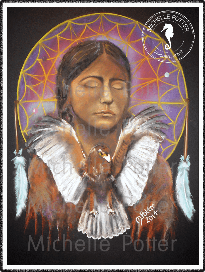 Spirit_Guide_Art_Michelle_Potter_Dreamcatcher_American_Indian_Large