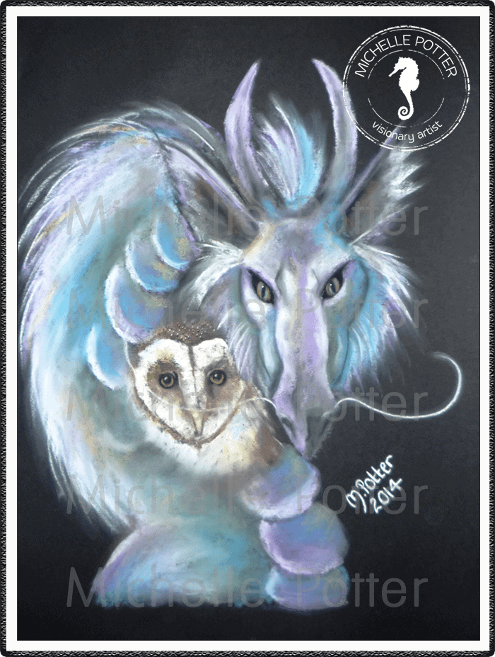 Spirit_Guide_Art_Michelle_Potter_Dywell_Dragon_Owl_Large
