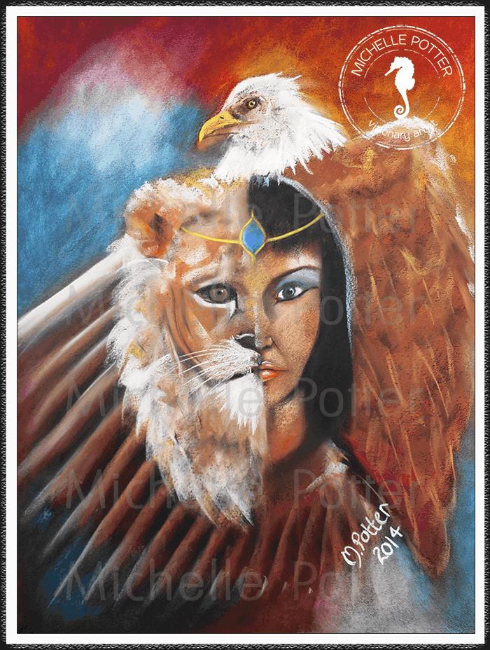 Spirit_Guide_Art_Michelle_Potter_Egyptian_Goddess_Eagle_Large
