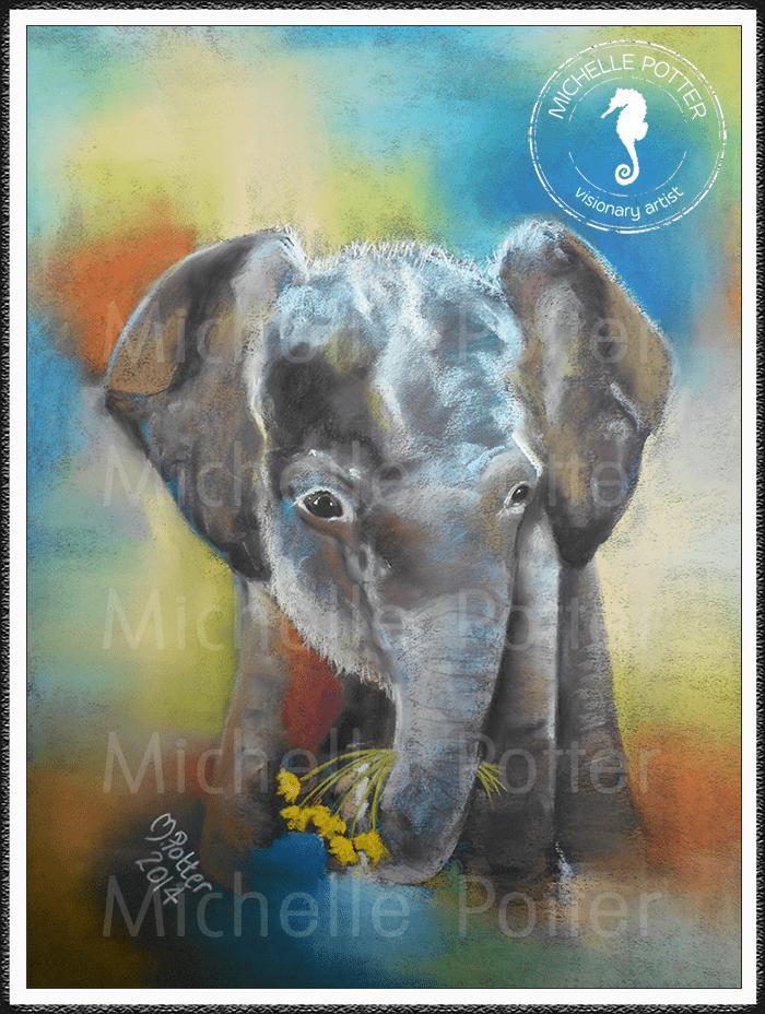 Spirit_Guide_Art_Michelle_Potter_Elephant_Baby_Large