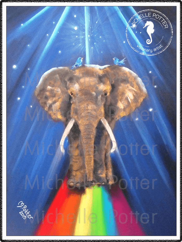 Spirit_Guide_Art_Michelle_Potter_Elephant_Rainbow_Bridge_Large