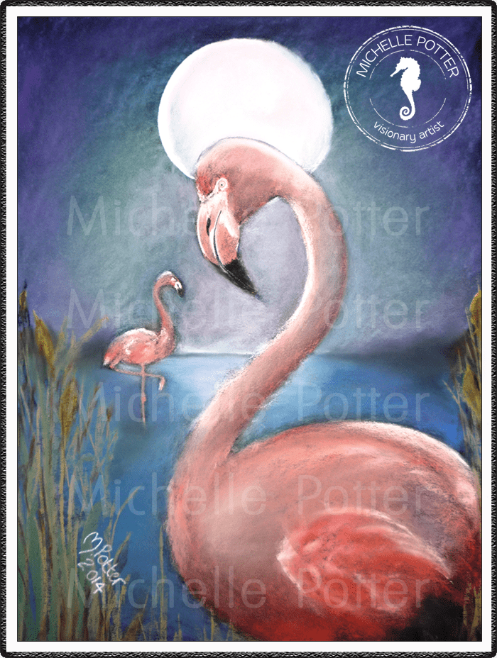 Spirit_Guide_Art_Michelle_Potter_Flamingo_Large