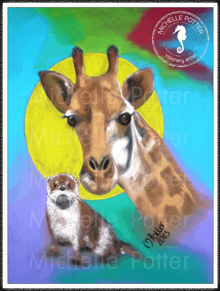 Spirit_Guide_Art_Michelle_Potter_Giraffe_Otter_Large