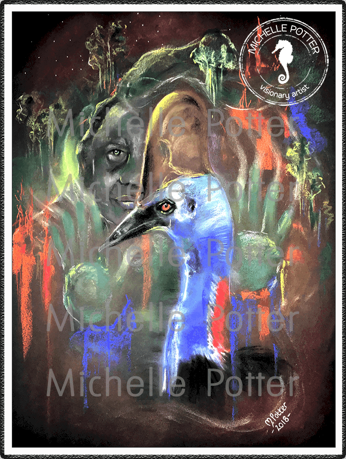 Spirit_Guide_Art_Michelle_Potter_Gunai_Cassowary_Large