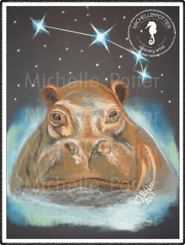 Spirit_Guide_Art_Michelle_Potter_Hippo_Large