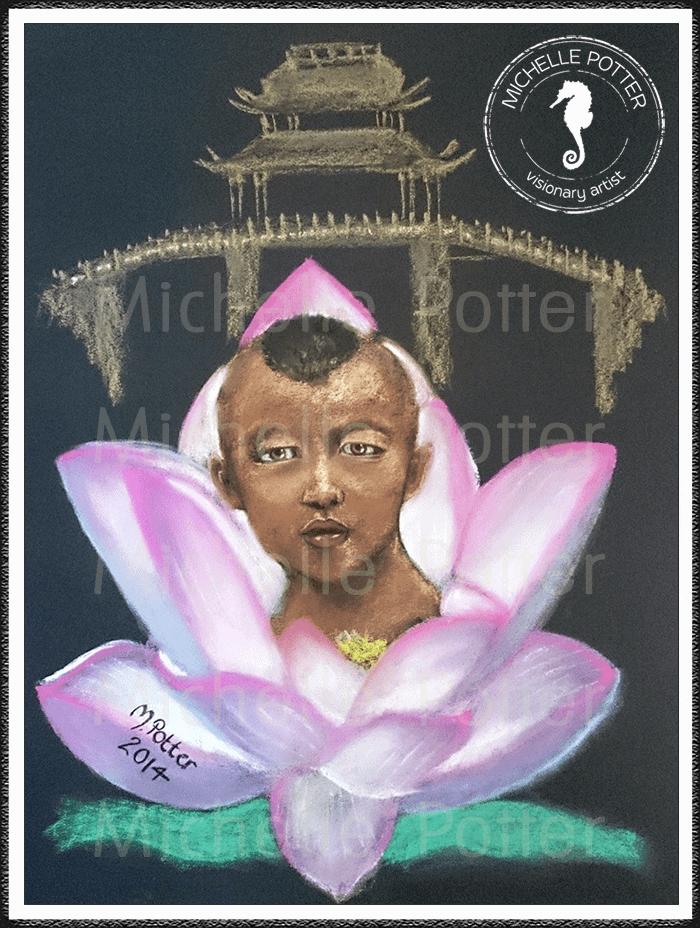 Spirit_Guide_Art_Michelle_Potter_Huan_Lotus_Flower_Large