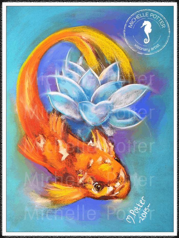 Spirit_Guide_Art_Michelle_Potter_Koi_Fish_Large