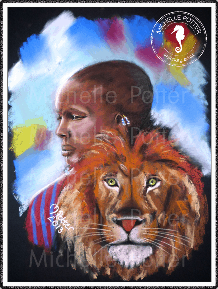 Spirit_Guide_Art_Michelle_Potter_Lion_Ethiopian_Large