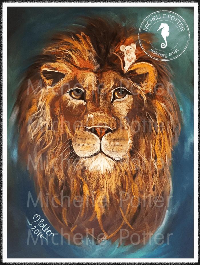 Spirit_Guide_Art_Michelle_Potter_Lion_Mouse_Large
