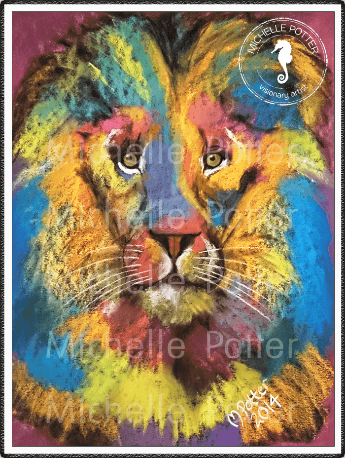 Spirit_Guide_Art_Michelle_Potter_Lion_Raoul_Large
