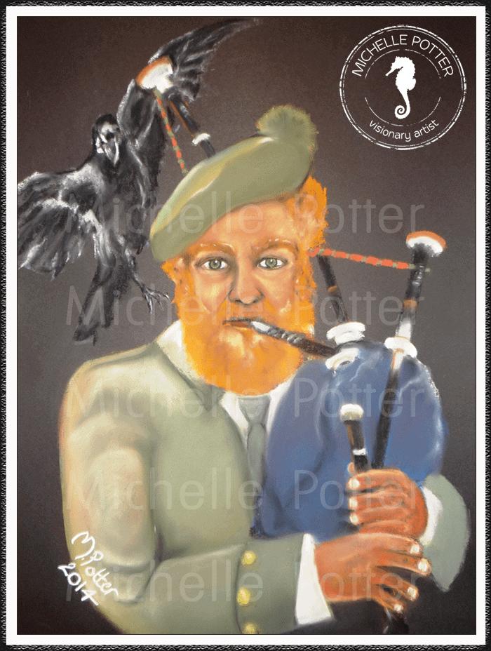 Spirit_Guide_Art_Michelle_Potter_Lochlan_Scottish_Bagpipes_Large