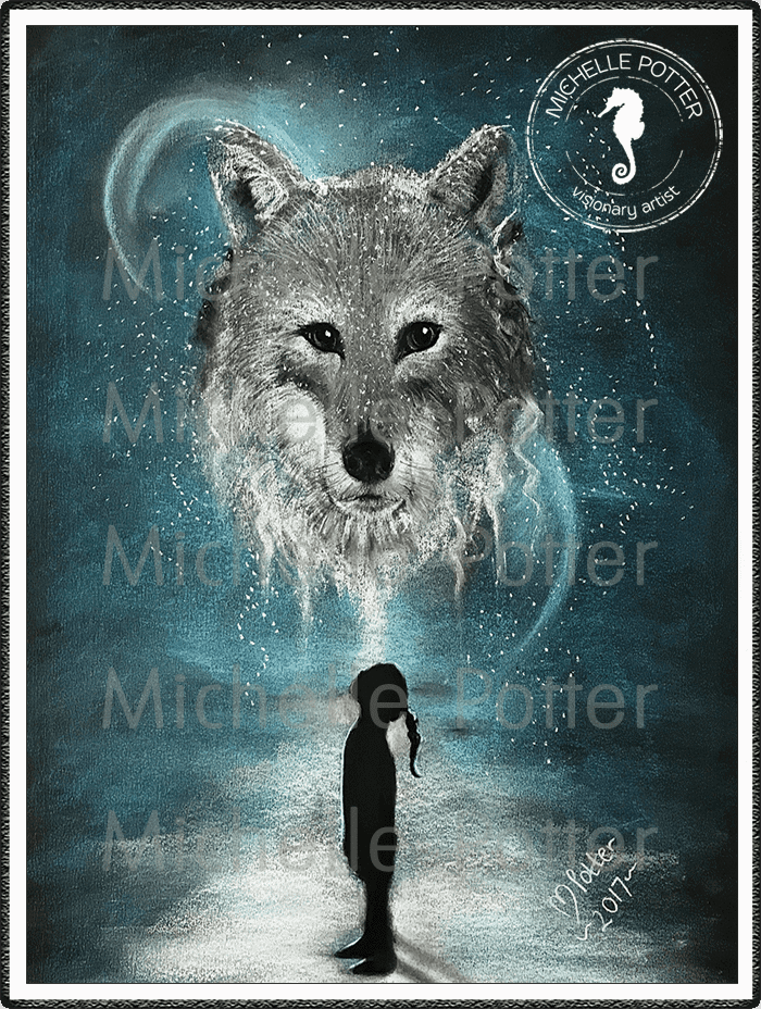 Spirit_Guide_Art_Michelle_Potter_Lone_Wolf_Large