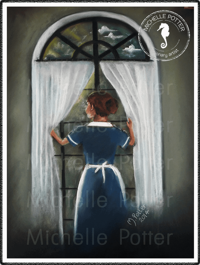 Spirit_Guide_Art_Michelle_Potter_Maid_At_Window_Large