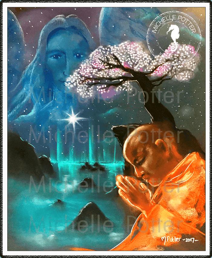 Spirit_Guide_Art_Michelle_Potter_Monk_Archangel_Michael_Large