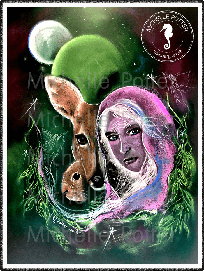 Spirit_Guide_Art_Michelle_Potter_Namea_Starseed_Deer_Rabbit_Alien_Large