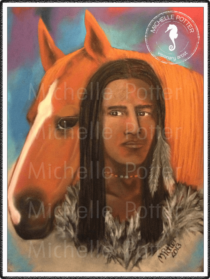 Spirit_Guide_Art_Michelle_Potter_Native_American_Indian_Horse_Large