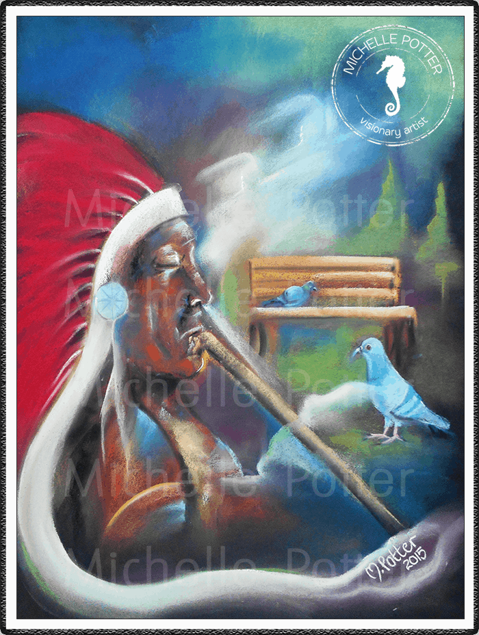 Spirit_Guide_Art_Michelle_Potter_Red_Indian_Large