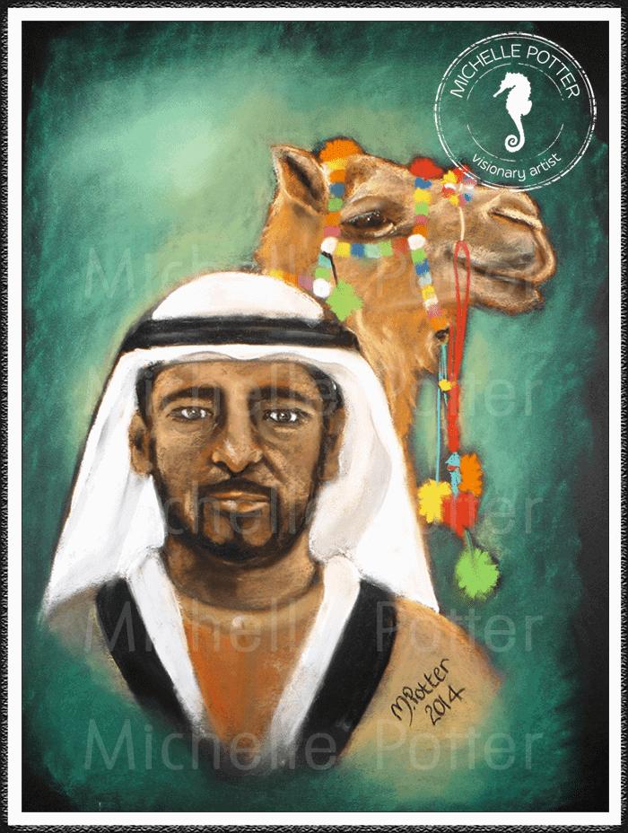 Spirit_Guide_Art_Michelle_Potter_Sheikh_Camel_Large