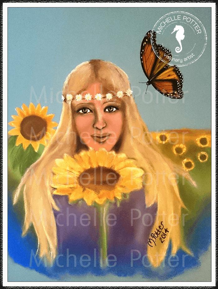 Spirit_Guide_Art_Michelle_Potter_Skye_Sunflowers_Large