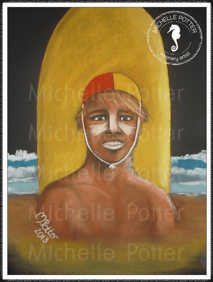 Spirit_Guide_Art_Michelle_Potter_Surf_Lifesaver_Large